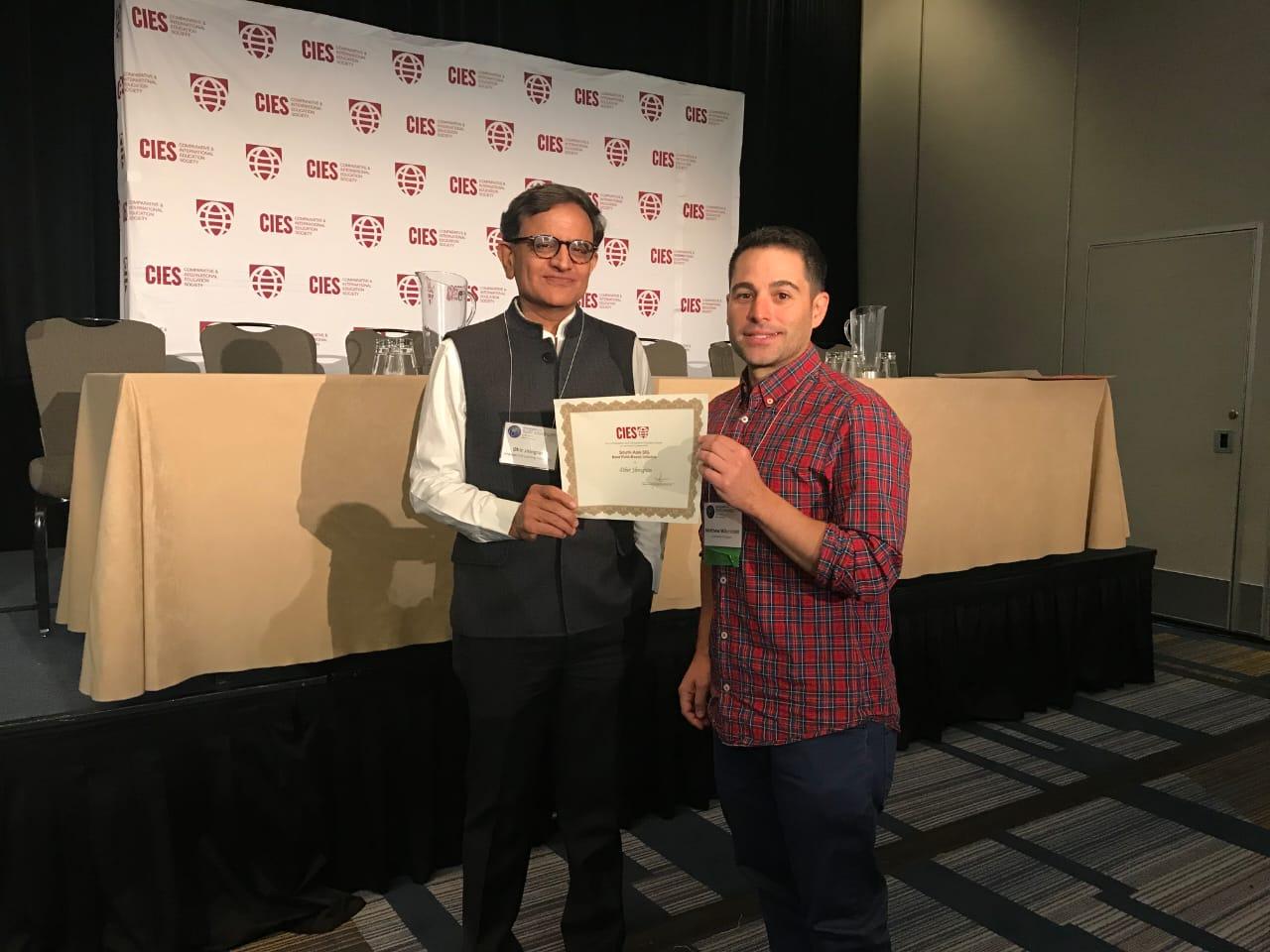 Best Field Initiative Award at CIES 2019
